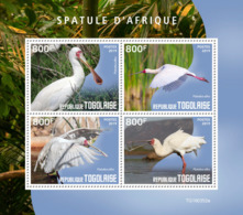 Togo 2019 Fauna   African Spoonbill ,birds  S201909 - Togo (1960-...)