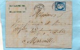 COLLOBRIERES (78),cachet 17 Sur N°60,L.A.C. Du 12/5/76. - 1849-1876: Klassik