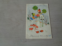 Carte ( 247 ) Fantaisie  Fantasie - Thème Champignon  Champignons   Paddestoel  Paddestoelen - Hongos