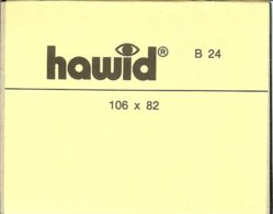 HAWID - Blocs 106x82 Fond Noir - Bandes Cristal