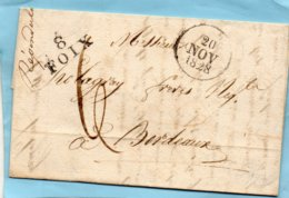 """Linéaire """"8 FOIX"""",L.A.C. Du 19/11/1828. - Poststempel (Briefe)"""