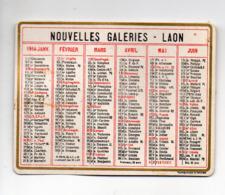 Laon (02 Aisne) Petit Calendrier 1914 NOUVELLES GALERIES Recto Verso (PPP20626) - Petit Format : 1901-20