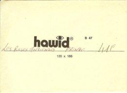 HAWID - Blocs 120x166 Fond Noir - Bandes Cristal