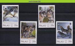 Nfd19s FAUNA ZOOGDIEREN WILDE HOND GREY WOLF WILD DOG MAMMALS WILDLIFE PALAU 2013 PF/MNH - Dogs