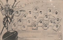 *** 64 *** BAYONNE - Sport RUGBY - Aviron Bayonnais équipe 1913 Championnat De France Petit Pelurage Timbrée - Bayonne