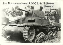 Sottosezione A.N.C.I. Di Borgo Roma (Verona) Carro Armato M 13/40, Assoc. Carristi In Congedo - Equipment