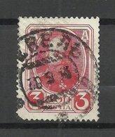 ESTLAND ESTONIA Russia 1913 O REVEL Tallinn Reval Cyrillic Cancel On Michel 84 Alexander III Romanov Stamp - Estland