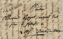 1830- Lettre De 89 / LA PALUD ( Vaucluse ) 32 X 11 Mm Noir  Pour Aix - - Poststempel (Briefe)