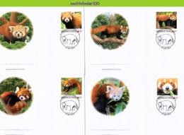 Nfd20fb FAUNA ZOOGDIEREN KATBEER RODE PANDA RED PANDA CATBEAR MAMMALS WILDLIFE TONGA 2012 FDC's - Wild