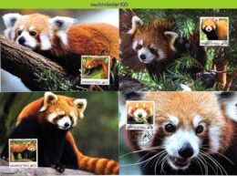 Nfd20mb FAUNA ZOOGDIEREN KATBEER RODE PANDA RED PANDA CATBEAR MAMMALS WILDLIFE TONGA 2012 MAX # - Wild