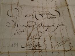 1809- Ht GARONNE  -Lettre MANUSCRITE  +TAXEE +IND/ 6 Départ 30 REVEL Pour AGDE (Herault) -3 Photos - 1801-1848: Voorlopers XIX