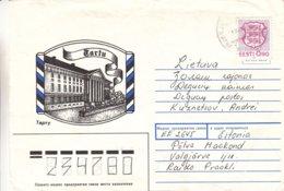 Estonie - Lettre Illustrée De 1992 - Exp Vers Deguciai En Lituanie - Vue De Tartu - Estland