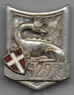 129e Régiment Infanterie - Insigne émaillé G 429 - Army