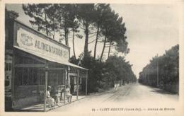 CPA 44 Loire Atlantique Inférieure Saint Brévin Les Pins St Avenue De Mindin Alimentation Bouillon Kub Charcuterie - Saint-Brevin-les-Pins
