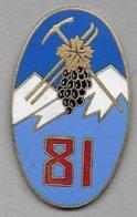 81e Régiment Infanterie Alpine - Insigne émaillé Drago Paris - Army