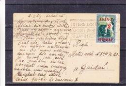 Lettonie - Carte Postale De 1921 - Oblit Riga - Exp Vers Riga - Expo Internationale - Lettonie