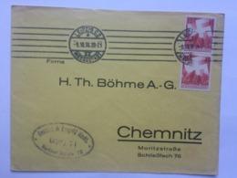 GERMANY 1936 Cover Leipzig To Chemnitz - Alemania