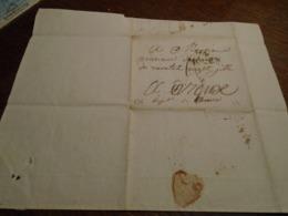 1817- SEINE INFERIEURE   -Lettre MANUSCRITE  +TAXEE +IND/4 +  Départ 74 ROUEN   Pour EVREUX  -2 Photos - Poststempel (Briefe)