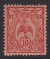 New Caledonia 1905 Kagu 1c Red  MH   SG 114 - New Caledonia
