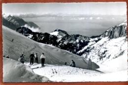 Suisse   CPSM Petit Format  LEYSIN   La Berneuse Sur Leysin   Vue Sur Le Lac Léman        Très Bon état - VD Vaud