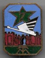 7e Régiment Tirailleurs Marocains  - Insigne émaillé Mourgeon - Army