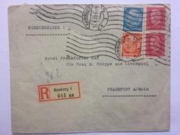 GERMANY 1931 Cover Registered Hamburg To Frankfurt - Briefe U. Dokumente