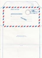 FRANCE - AEROGRAMME  SPECIMEN BLEU CONCORDE 3.10 POUR LE CENTRE D'ENSEIGNEMENT DE LA POSTE - CLERMONT FD 63 / TBS - Entiers Postaux