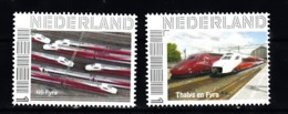 Nederland Persoonlijke Zegel: Thema:trein, Train: NS Fyra + Thalys En Fyra - Eisenbahnen