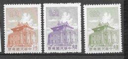 Formose Taiwan   N° 408   à  410 Pagode     émis Neufs (*)  B/ TB    Soldé ! ! !     Le Moins Cher Du Site ! ! ! - 1945-... République De Chine