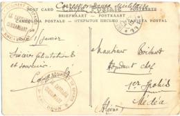 GUERRE 14-18 1e RÉGIMENT DE SPAHIS * 2e ESCADRON * TàD TRESOR ET POSTES * 111 * JANV 15 CP => 1er SPAHIS MÉDÉA ALGÉRIE - Postmark Collection (Covers)