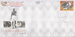 India 2019  Mahatma Gandhi  Ahimsapex  Lucknow  Special Cover # 23182 D  D Inde  Indien - Mahatma Gandhi