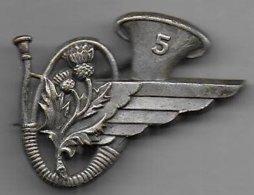 5e Bataillon Chasseurs Aéroportés - Insigne Arthus Bertrand Paris - 42 Mm - Army