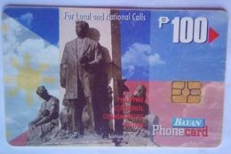 Bayan Tel  Rizal Monument 100 Pesos - Filippine