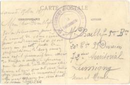 GUERRE 14-18 CP ST MATHURIN MAINE-ET-LOIRE 19 RÉGIMENT De CHASSEURS => 20e Cie 99 Div. 72e Terr. LUMIGNY SEINE-ET-MARNE - Guerra De 1914-18