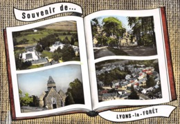 Souvenir De ... LYONS-la-FORET - La Piscine - Eglise - Vue Générale - Livre Ouvert - Lyons-la-Forêt