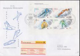Germany Registered FDC 2002 From Bonn Salt Lake City Olympic Games (LAR5-68) - Inverno2002: Salt Lake City