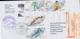 Germany Registered FDC 2002 From Bonn Salt Lake City Olympic Games To The German Soldiers In Kosove - Winter 2002: Salt Lake City