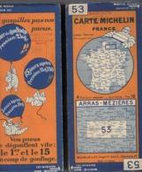 Carte Géographique MICHELIN - N° 053 - ARRAS-MÉZIÈRES - N° 2820-20 - Wegenkaarten