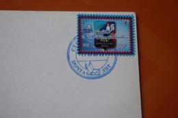 Ex Ukraine  LNR. Lugansk Capital.  Railway Station. Old Postcard With 2017 Stamp And 2018 Stakhanov City Post Mark - Ucraina