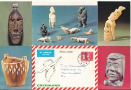 Greenland Photoletter Sent To Denmark Godthab 9-9-1980 - Covers & Documents