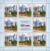 Az  1123-1124 KB MNH** Azerbaijan Aserbaidschan 2015 Modern Architecture Joint Issue Russia - Azerbaiján