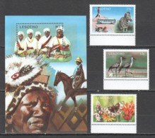 Y529 1991 LESOTHO TOURISM BUTTERFLIES ANIMALS #911-13 MICHEL 10 EURO BL+SET MNH - Holidays & Tourism
