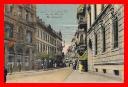 CPA WIESBADEN (Allemagne)   Marktstrasse. Rue Du Marché, Animé...E152 - Wiesbaden