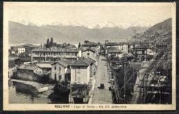CV2895 BELLANO (Lecco LC) Lago Di Como, Via XX Settembre, FP, Viaggiata Per Milano, Francobollo Asportato, Ottime Condiz - Lecco