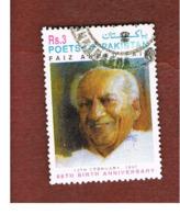 PAKISTAN  -  SG 1011  -  1997  F.A. FAIZ, POET -  USED ° - Pakistan