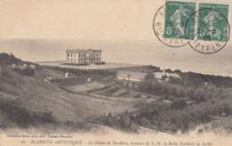 Cp , 64 , BIARRITZ , Le Palais Sacchino, Demeure De S.M. La Reine Nathalie De Serbie - Biarritz