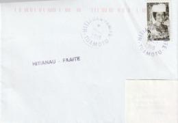 13114  HITIANAU - FAAITE - TUAMOTU - POLYNÉSIE FRANÇAISE - Griffe Linéaire - Lettres & Documents