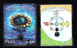 Peru 2002 Mi Nr  1809 + 1810 ; Dialoog Voor De Beschaving - Perù