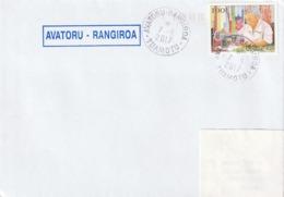 13117  AVATORU - RANGIROA - TUAMOTU - POLYNÉSIE FRANÇAISE - Griffe Linéaire - Lettres & Documents