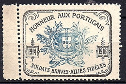 1916 WW II French Thank The Portuguese For Assistance In The War MNH (701) - 1910-... République